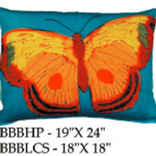 Yellow Butterfly Pillow, BBB, 2 sizes