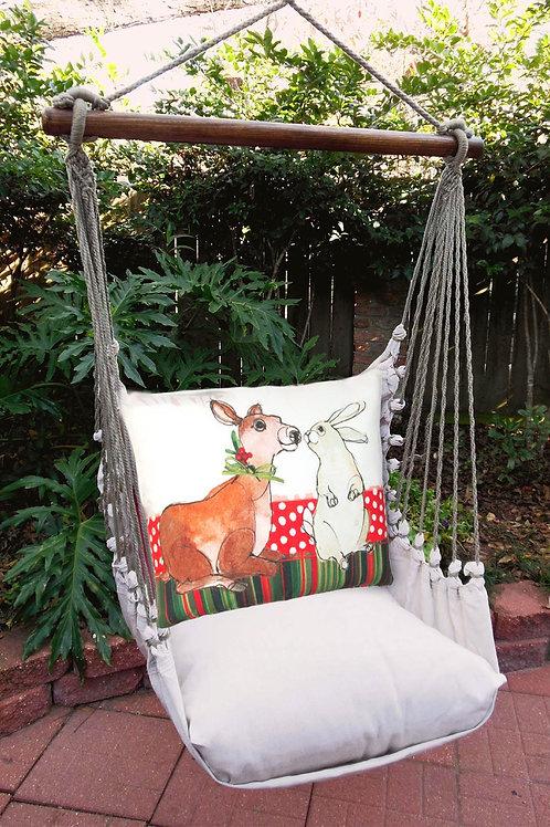 Deer & Bunny Swing Set w/ Latte Fabric, LTRR508-SP