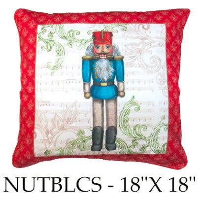 Nutcracker, Blue, NUTBLCS, 18x18