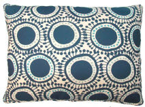 Navy Circles Pillow, RRFOLCB, 2 sizes