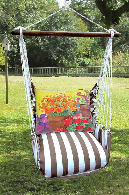 SC Swing Set w/ Flower Pots Pillow, SCBC603-SP