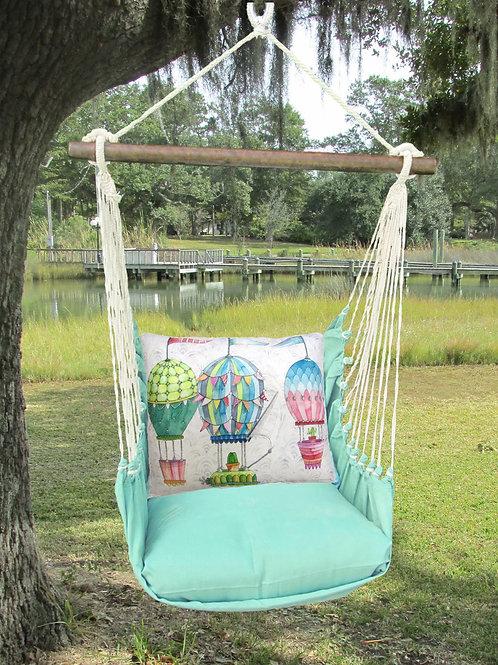 Seafoam Swing Set w/ Balloons Pillow, SFES601-SP
