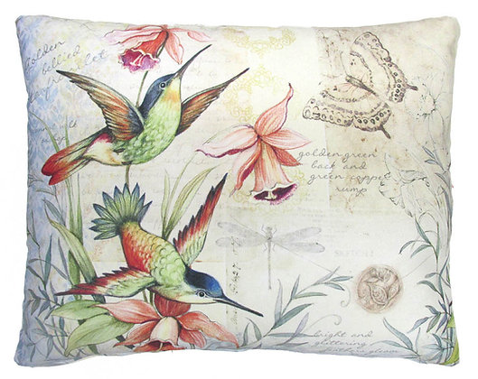 Hummingbirds Pillow, SW901, 2 sizes available