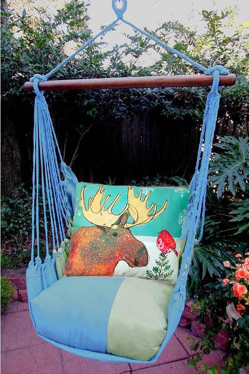 Christmas Moose Swing Set, Meadow Mist, MMRR512-SP
