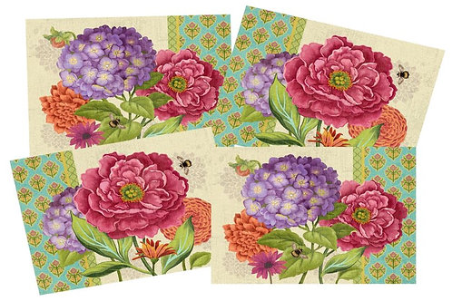 Bold Blossom Placemats, set of 4, PM-SN604-5