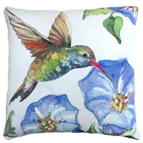 Hummingbird w/ Morning Glory, SR803LCS, 18x18 only