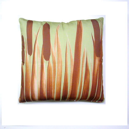 Cattails Pillow, CTMMLCS, 18x18