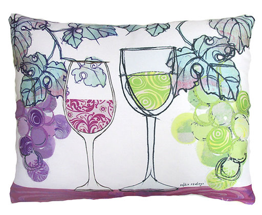 Wine Duo Pillow, RR811, 2 sizes