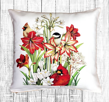 Cardinals and Amaryllis, MLT911LCS, 18x18