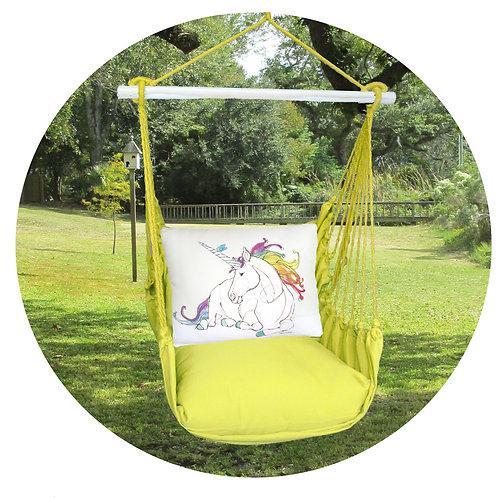 Lime Swing Set w/ Unicorn Pillow, LMRR808-SP