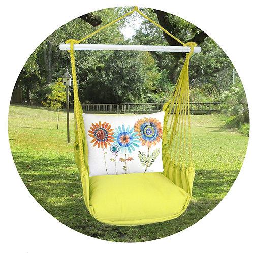 Lime Swing Set w/ Daisy Pillow, LMRR805-SP
