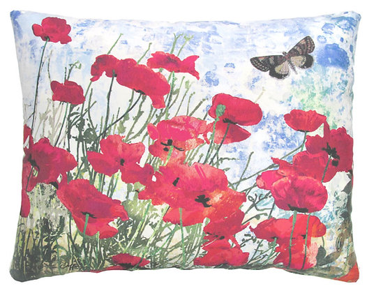 Red Poppies Pillow, TC901, 2 sizes available