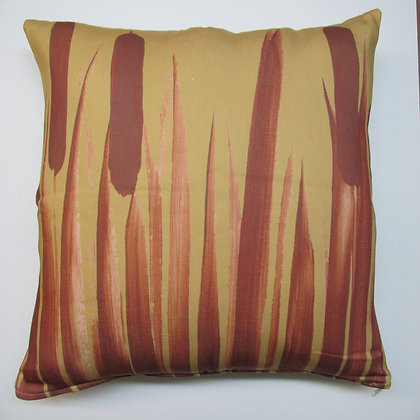 Cattails Pillow, CTCSLCS, 18x18