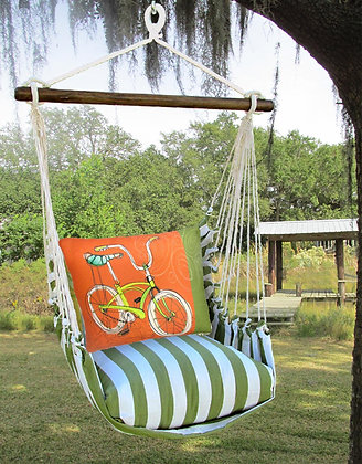 Retro Bicycle Pillow & Swing Set, SPRR617-SP