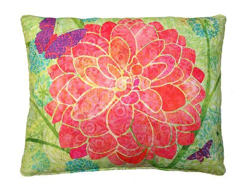 LJ Pillow, Red Flower, TC512LCS, 18x18