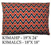Ikat Chevron Pillow, K5MA, 2 sizes