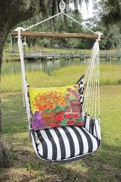 TB Swing Set w/ Flower Pots Pillow, TBBC603-SP