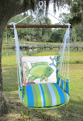 Fish Pillow on Beach Boulevard Fabric, BBRR804-SP