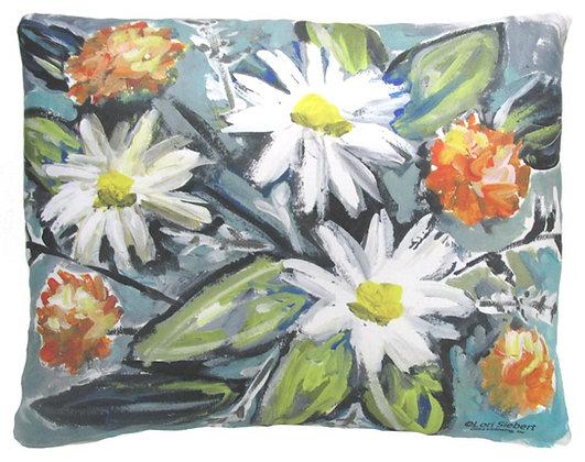 Impressionist Floral Pillow, LS901