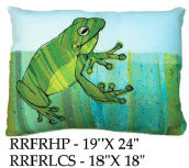 Frog Pillow, RRFR, 2 sizes