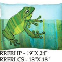 Frog Pillow, RRFR, 2 sizes