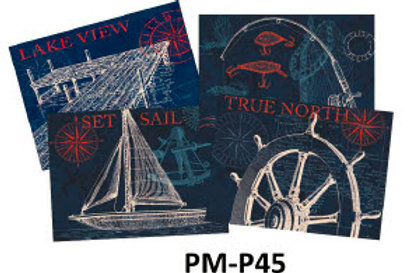 Set of 4 Place Mats, Life on the Water, PM-P45