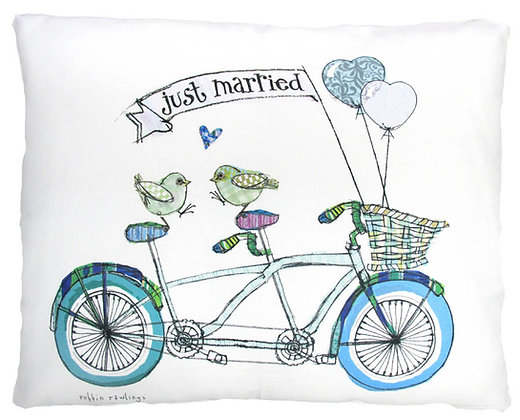 Just Married Pillow, RR913, 2 sizes available