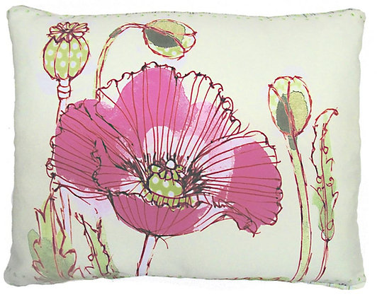 Pink Poppy Pillow, RR209, 2 sizes