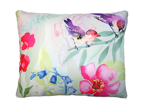 Flowers and Bird Pillow, GG502LCS, 18x18 only