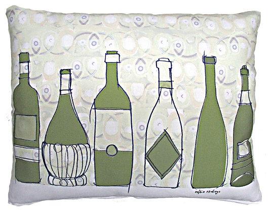 Wine Bottles Pillow, RR211, 2 sizes