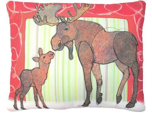 RR510HP, 19x24, Christmas Moose