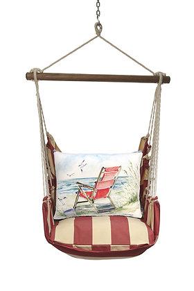 Beach Chair Pillow on Americana Stripe, AMSW905-SP