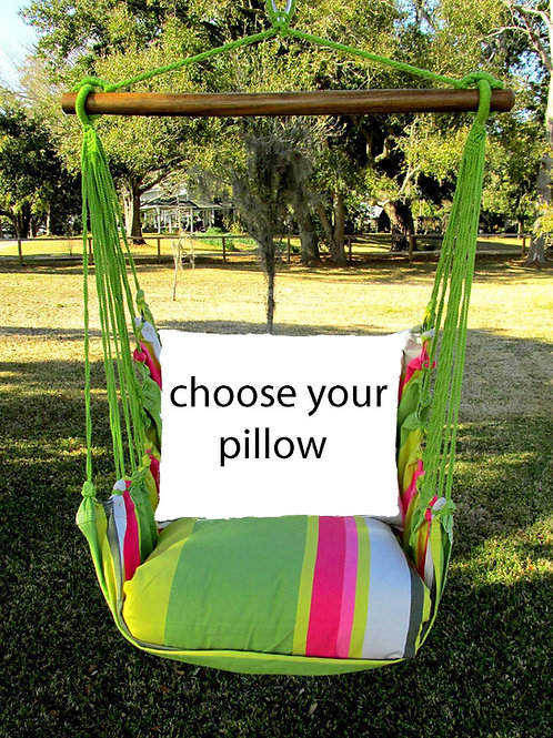Fresh Lime Swing Set (Without Back Pillow)