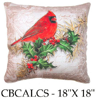 Cardinal and Holly, CBCALCS, 18x18