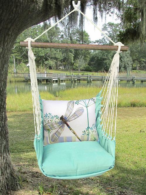 Seafoam Swing Set w/ Dragonfly Pillow, SFRR604-SP