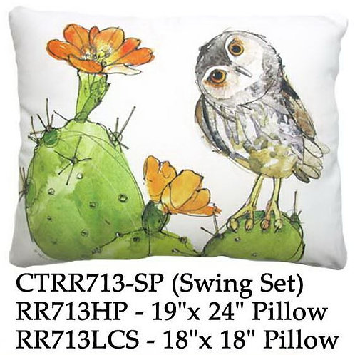 Owl on Cactus, RR713, 2 sizes
