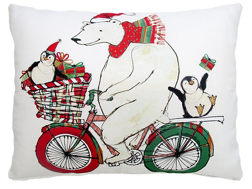 RR719HP, 19x24, Polar Bear on Bike