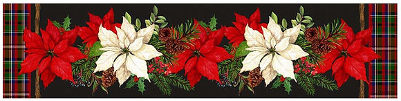 "Poinsettias Table Runner, SN906RNR, 14""x60"""