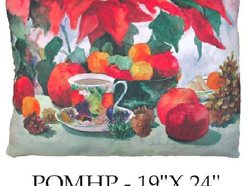 Pomegranates and Poinsettias, POMHP, 19x24