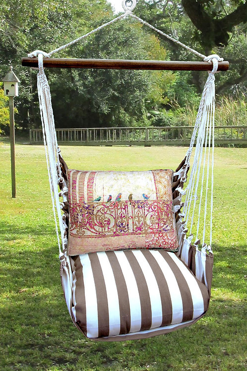 SC Swing Set w/ Birds on Ironwork, SCTC602-SP