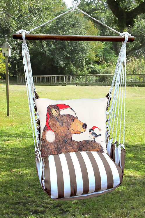 Santa Bear Swing Set, SCRR817-SP