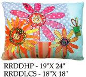 Daisies Pillow, RRDD, 2 sizes