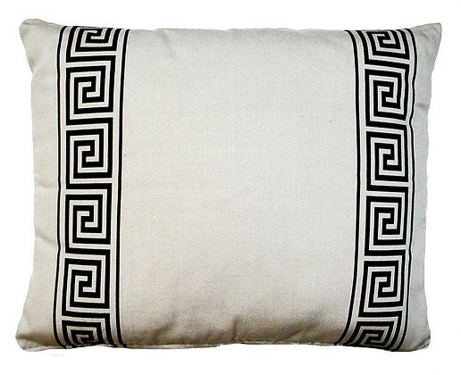 Greek Key Pillow (Latte), GKLBHP, 19x24