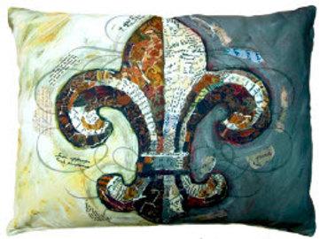 TB Pillow, Fleur de Lis, FLBRHP, 19x24