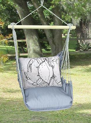 Crab Pillow on Gray Fabric, GRRR205-SP