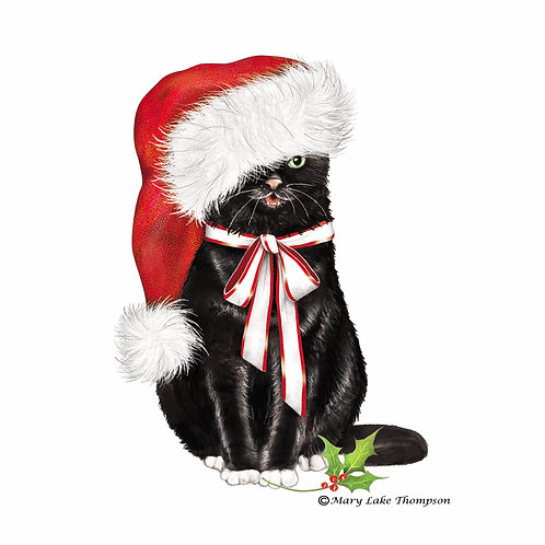 Christmas Cat in Hat, MLT812LCS, 18x18
