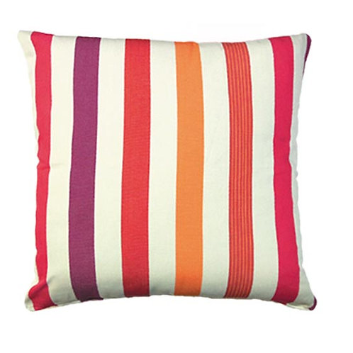 Cristina Stripe Fabric Pillow, CR250CL, 24x24