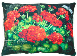 TB Pillow, Geraniums, GERBLCS, 18x18