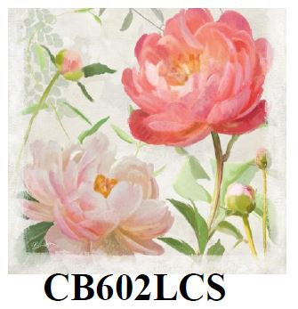 Peonies, CB602LCS, 18x18 only