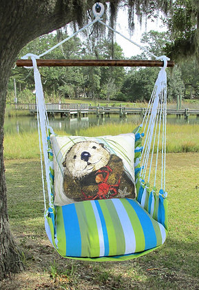 Sea Otter Pillow on Beach Boulevard Fabric, BBRR710-SP